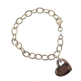New Sterling Silver Heart Bracelet