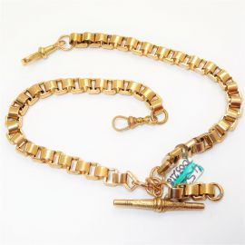 Antique 9ct Rose Gold T Bar Bracelet
