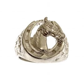 New Silver Horse's Head Ring