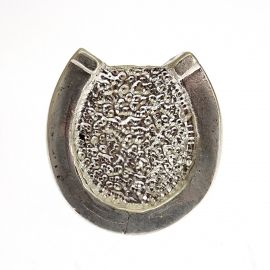 New Large Silver Horse Shoe Ring