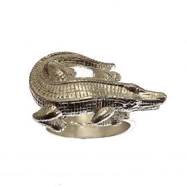 New Silver Alligator Ring