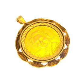 22ct Gold Isle of Man Coin in 9ct Gold Pendant Mount