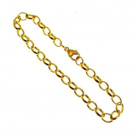 NEW 9ct Gold Plain Oval Link Bracelet