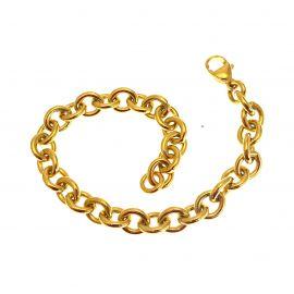 New Solid 9ct Gold Belcher Bracelet