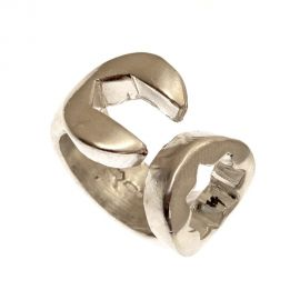 Pre-Owned Silver Spanner Ring