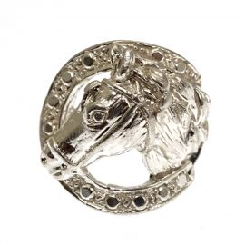 Brand New Silver Horse Head Ring