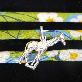 Handmade Liberty of London Wrap Bracelet with Sterling Silver Giraffe Charm