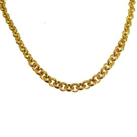 New 9ct Gold Graduated Belcher Necklace