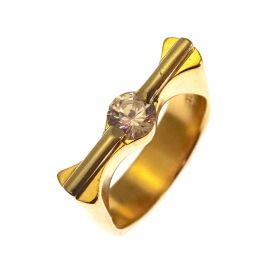 Pre-Loved 14ct Gold CZ Ring