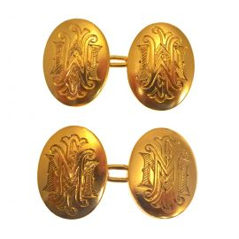 Antique 18ct Gold Cuff Links