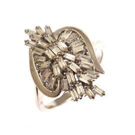 18ct White Gold 50pt Diamond Cluster Ring