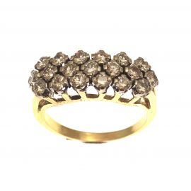 Pre-loved 18ct Gold Diamond Cluster Ring