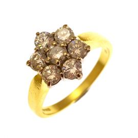 Pre-loved 18ct 1ct Diamond Cluster Ring