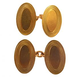 Pre-loved 9ct Gold Cuff Links