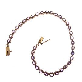 Second Hand 9ct Gold Tanzanite Ladies Bracelet