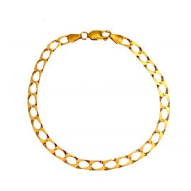 Pre-owned 9ct Gold Square Curb Bracelet