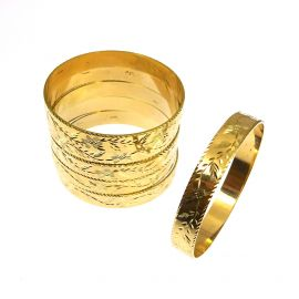 Brand New 9ct Gold Ladies Patterned Bangle