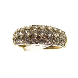 Pre-Loved 9ct Gold Half Eternity Ring