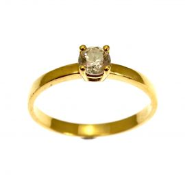Pre-Loved 14ct Gold CZ Solitaire Ring