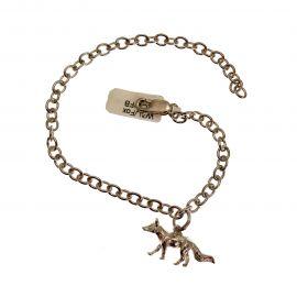 Handmade Sterling Silver Fox Bracelet