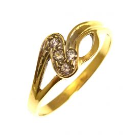 Pre-Owned 14ct Gold CZ Ring