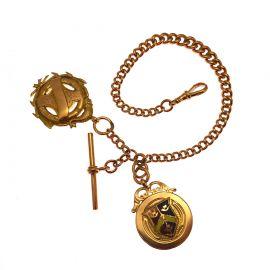 Vintage 9ct Rose Gold Albert T-bar Bracelet
