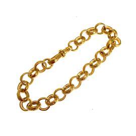 New 9ct Gold Plain & Patterned Belcher Bracelet