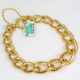 Heavy 9ct Gold Albert Bracelet
