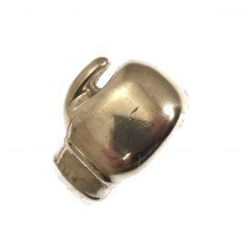 Brand New Silver Boxing Glove Ring