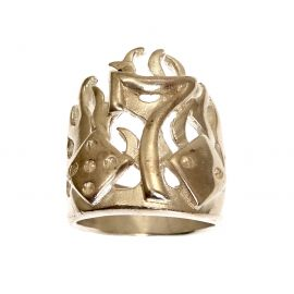 Sterling Silver Lucky 7's Ring