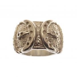 Heavy Silver Buckle Ring