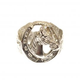 NEW Solid Silver Horse Shoe Ring