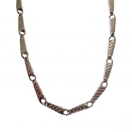 New Sterling Silver Patterned Chain