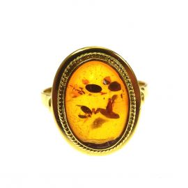Pre-Loved 18ct Gold Amber Ring