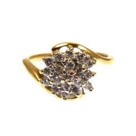 Pre-Owned 9ct Gold Diamond Cluster Ring