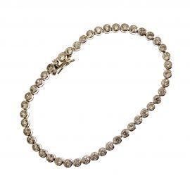 Pre-Loved Silver CZ Tennis Bracelet
