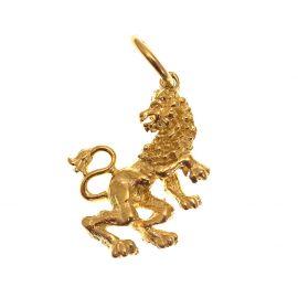 Pre-Loved 9ct Gold Lion Rampant Pendant