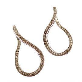 New Sterling Silver CZ Earrings