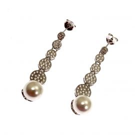 New Sterling Silver Pearl Drop Earrings