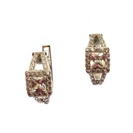 New Sterling Silver CZ Huggie Earrings