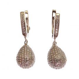 New Sterling Silver CZ Drop Earrings