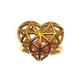 New 9ct Gold Filigree Heart Ring