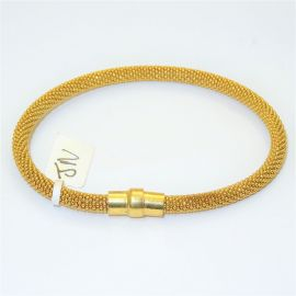 Gold Plated Silver Popcorn Bangle
