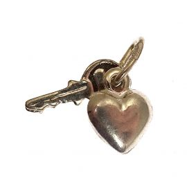Sterling Silver Key To My Heart Charm