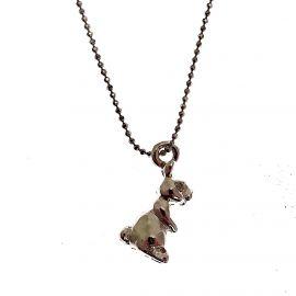 Handmade Sterling Silver Rabbit Pendant Necklace