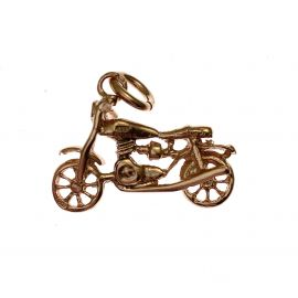 Pre-Owned 9ct Gold Motorbike Pendant / Charm