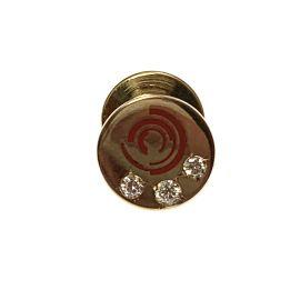 Pre-Owned 9ct Gold Diamond Wabtec Rail Tie Pin