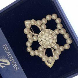 Second Hand Swarovski Crystal & Synthetic Pearl Brooch