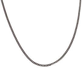 New 9ct White Gold Fine Link Curb Chain
