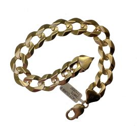 Second Hand Heavy 14K Gold Curb Bracelet